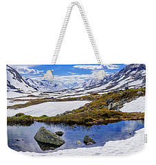Hut In The Mountains Weekender Tote Bag