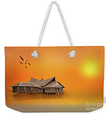 Huts Weekender Tote Bag by Charuhas Images