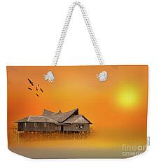 Huts Weekender Tote Bag