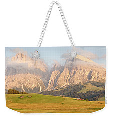 Huts On The Alpe Di Siusi Weekender Tote Bag