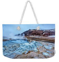 Hverir Steam Vents In Iceland Weekender Tote Bag by Joe Belanger