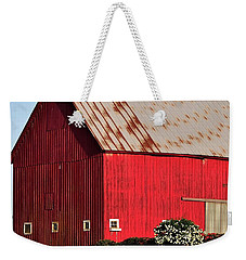 Hwy 47 Red Barn 21x21 Weekender Tote Bag