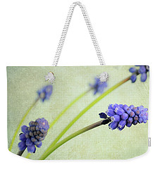 Weekender Tote Bag featuring the photograph Hyacinth Grape by Lyn Randle