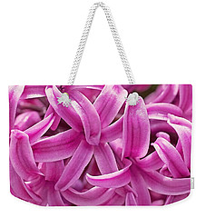 Weekender Tote Bag featuring the photograph Hyacinth Pink Pearl by Rona Black