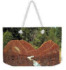 Hyalite Canyon Sculpture Weekender Tote Bag