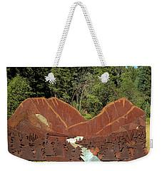 Hyalite Canyon Sculpture Weekender Tote Bag