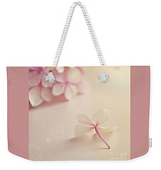Weekender Tote Bag featuring the photograph Hydrangea Flower by Lyn Randle