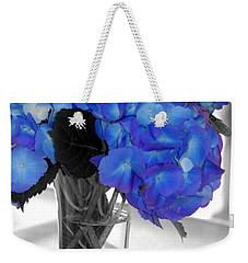 Weekender Tote Bag featuring the photograph Hydrangea In Glass by Donna Bentley