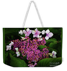 Weekender Tote Bag featuring the photograph Hydrangea by Melinda Hughes-Berland
