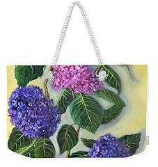 Hydrangeas Weekender Tote Bag by Randy Burns