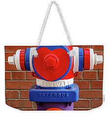 Weekender Tote Bag featuring the photograph Hydrant Number One by James Eddy