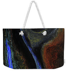 Weekender Tote Bag featuring the painting Hydrogen Fiend by Christophe Ennis
