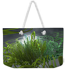 Weekender Tote Bag featuring the painting Hydroponic Sky by Dave Luebbert