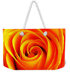 Hypnotic Orange Weekender Tote Bag