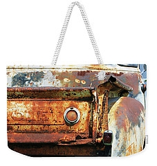 Weekender Tote Bag featuring the photograph I Am A Little Rusty by Christopher McKenzie