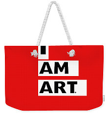 I Am Art Stripes- Design By Linda Woods Weekender Tote Bag