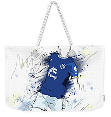 I Am Blue And White Weekender Tote Bag