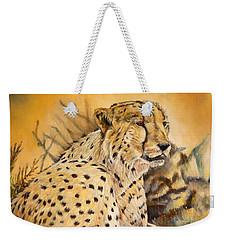 I Am Cheetah Weekender Tote Bag by Marilyn  McNish
