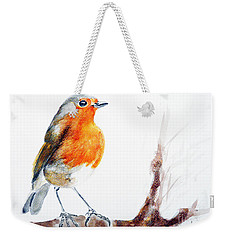 Weekender Tote Bag featuring the painting I Am Happy by Jasna Dragun