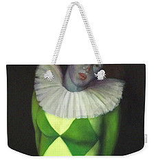 Weekender Tote Bag featuring the painting I Am by Marlene Book