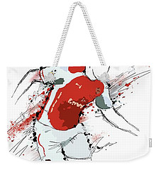 I Am Red And White Weekender Tote Bag