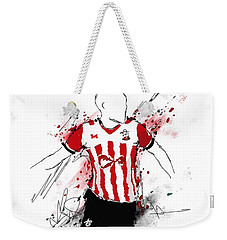 I Am Red And White Stripes Weekender Tote Bag