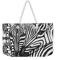 I Am So Into You Zebra Love Weekender Tote Bag