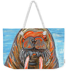 Weekender Tote Bag featuring the painting I Am The Walrus by Jeanne Forsythe