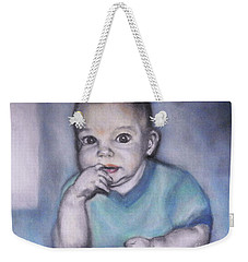 Weekender Tote Bag featuring the photograph I Am Thinking by Shirley Moravec