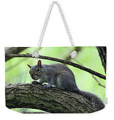 Weekender Tote Bag featuring the photograph I Am Watching You by Trina Ansel