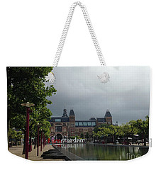 Weekender Tote Bag featuring the photograph I Amsterdam by Therese Alcorn