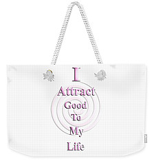 I Attract Pink Weekender Tote Bag