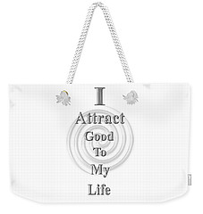 I Attract Silver Weekender Tote Bag