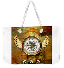 Weekender Tote Bag featuring the mixed media I Believe I Can Soar by Marvin Blaine