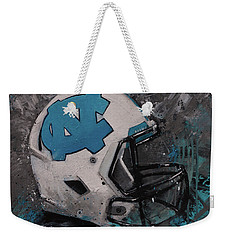I Bleed Carolina Blue Tarheel Wall Art Football Helment Weekender Tote Bag