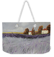 I Campi Di Lavanda Weekender Tote Bag by Guido Borelli