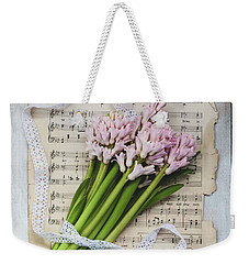 Weekender Tote Bag featuring the photograph I Can Hear Music by Kim Hojnacki