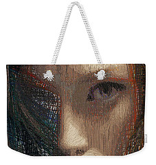 Weekender Tote Bag featuring the digital art I Can See by Rafael Salazar