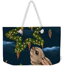 Weekender Tote Bag featuring the painting I Can Smell The Christmas In The Air by Veronica Minozzi