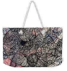 Weekender Tote Bag featuring the drawing I Cant Say Where Or When  It Just Is by Jack Dillhunt