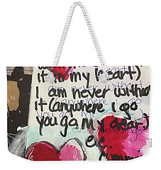I Carry Your Heart In My Heart II Weekender Tote Bag by Kim Nelson