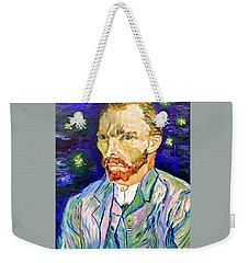 Weekender Tote Bag featuring the painting I Dream My Painting And I Paint My Dream by Belinda Low