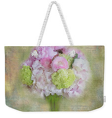Weekender Tote Bag featuring the painting I Dream Of Bouquets by Colleen Taylor