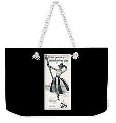 Weekender Tote Bag featuring the digital art I Dreamed I Was A Fireman In My Maidenform Bra by Reinvintaged