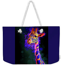 Weekender Tote Bag featuring the photograph I Dreamt A Giraffe by James Sage