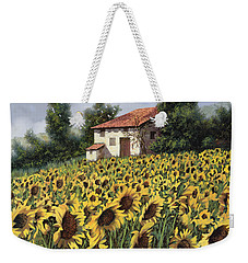 I Girasoli Nel Campo Weekender Tote Bag by Guido Borelli
