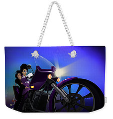 I Grew Up With Purplerain Weekender Tote Bag by Nelson dedos Garcia