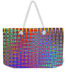 Weekender Tote Bag featuring the digital art I Had A Happy Childhood by Ann Johndro-Collins