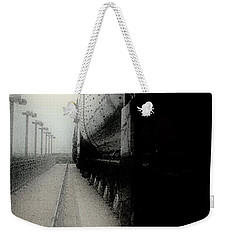 Weekender Tote Bag featuring the drawing I Hear That Lonesome Whistle Blow by RC deWinter