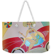 Weekender Tote Bag featuring the painting I Lost My Balls by Marie Schwarzer
